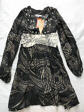 BNWT Alice Mccall Silk Banana Ball Long Bell Sleeves Dress Sz 6 Rare $355