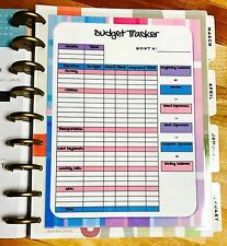 Monthly Budget Spending Tracker Dashboard Insert 4 use with Happy Planner