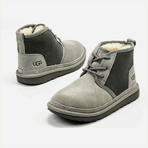 Toddler Ugg Neumel II Suede Lace Up Sheepskin Lined Boots NEW