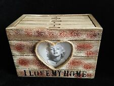 WOODEN HANGING Photo Box Family Wedding Picture Storage Display Marilyn Monroe