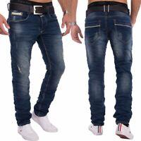 Hommes Un seul public détruit les fissures Jeans Vintage Slim Fit Denim