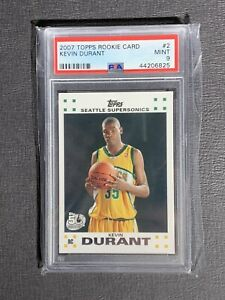 2007 Topps Rookie Card #2 Kevin Durant  PSA 9 MINT   *Rookie Card*