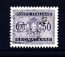 ITALIA - Regno - Segnatasse - 1934 - Stemma sabaudo con fasci - 50 c violetto