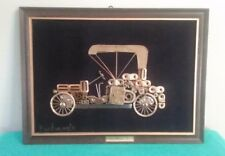 Wow! 1909 Mercedes Benz Framed Scrap Metal Wall Art Signed by F. Pichardo G.
