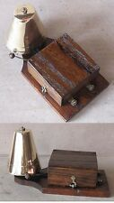 OLD ELECTRIC BRASS DOOR BELL / FUNCTIONAL / 6-10 VOLTS