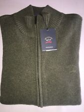 NEW Paul & Shark Yachting Jacket ZIP Blusotto Sweater WOOL GREEN  4XL