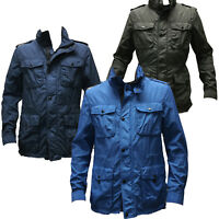 Coach 83393 Men's Nylon Wyatt Field Jacket Lightweight Utility Cargo Pocket Coat