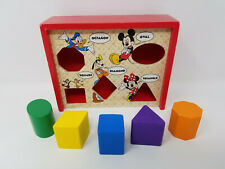 Disney Baby Melissa & Doug Mickey Mouse & Friends Wood Block Shape Puzzle Box