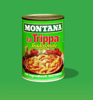 3 x Montana Trippa Tradizionale Kaldown 420 g Carved Meat in tin Italy
