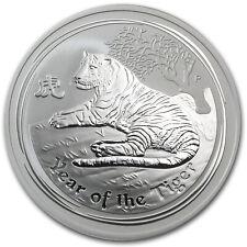 2010 Australia 1 oz Perth .999 Silver Lunar Tiger (from mint roll)