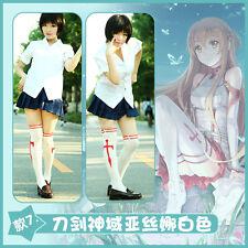 Anime Sword Art Online Stockings SAO Tights Socks Yuuki Asuna White Pantyhose