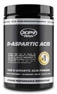 XPI Raw D-Aspartic Acid Powder 300 Grams, 100 Servings - Testosterone Support
