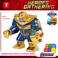 Thanos Marvel Super Heroes Lego Mini Figures Avengers Superhero Minifigures