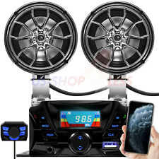 Bluetooth Motorcycle ATV Stereo Speakers Audio Amplifier System AUX USB SD Radio