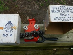 Ridgid BC2, NEW OLD STOCK Bench Pipe Chain Vise  WITH ORIGINAL BOX