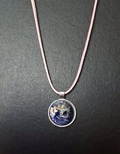 """Planet earth pendentif sur un 18"""" rose cordon collier anniversaire cadeau N36"""