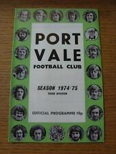 26/12/1974 Port Vale v Tranmere Rovers   (Item has no apparent faults).