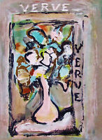 ROUALT - FLORAL BOUQUET - ORIGINAL VERVE LITHOGRAPH - 1939 - FREE SHIP IN THE US