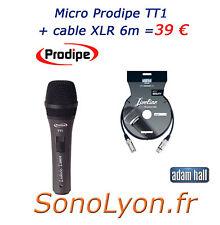 Microphone professionnel Chant Prodipe TT1 + cable XLR 6m