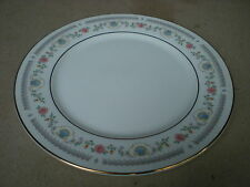 "Sango China TiVoli 8305 10.5"" Dinner Plate Pink Rose and Blue Shell"