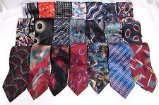 NEW Mens 6 Designer Name Brand Silk Bold Colorful Unique Art Deco Necktie Ties