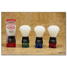 Omega Shaving Brush # 90077 Syntex 100% Synthetic Multi color Red Green and Blue