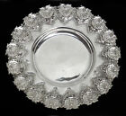 VINTAGE ITALIAN CRAFTED PERSIAN DESIGN STERLING SILVER 7  BREAD   BUTTER DISH