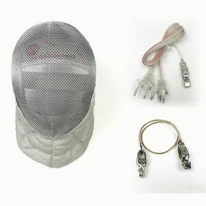 Fencing Mask Sabre Body Cords Gears Clubs Training Competition Sporting Goods