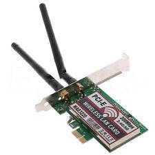 1pc Dual Band 300M LAN Desktop Wifi Wireless PCI-e PCI Express Card Wlan Adapter