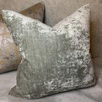"Stunning Luxury Cushion Cover 16"" John Lewis & Partners Fabric Velvet Grey"
