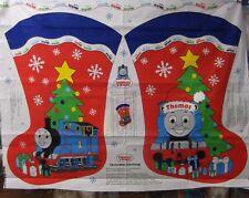"1 Vip ""Thomas the Train"" Christmas Stocking  Fabric Panel"