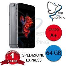 IPHONE 6s RIGENERATO A NUOVO 64GB 64 GB NERO ORIGINALE APPLE + GARANZIA 1 ANNO