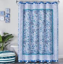 "Opal House Bandana Print Shower Curtain Blue, 72"" x 72"""