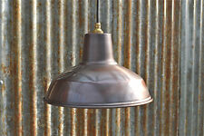 Retro factory styled antiqued copper ceiling light hanging lamp shade pendant G3