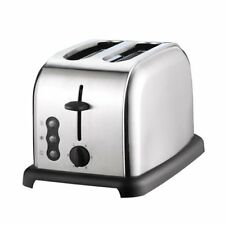 Sabichi 165220 Wide Slot Brushed Stainless Steel 2-Slice Electric Bread Toaster