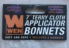 """WEN 7"""" Terry Cloth Applicator Bonnets 7A324"""