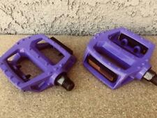 "BICYCLE PEDALS 9/16"" ALLOY PURPLE BMX BEACH CRUISER LOWRIDER MOUNTAIN FIXIE ROAD"
