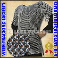 Chainmail Shirt Haubergeon Half Sleeve Chain Mail Shirt Reenactment Costume az1