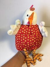 Lilliputiens Ophelie Chicken Hand Puppet Rattle Baby Kids Plush