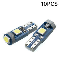 10 Stück T5 Super Helle 3 SMD 3030 LED Glassockel Lampe Tachobeleuchtung Weiß 3W