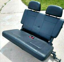 Mitsubishi Montero Third Row Seat + Headrests Black Leather 2001-2006