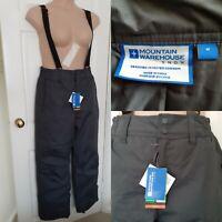 MOUNTAIN WAREHOUSE Dark Grey Dusk Ski Pants Trousers, Snow Gaiter Size M BNWT