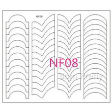 Nagel Sticker Nail Art French Tip Guides NF08