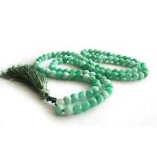 8mm Green Jade Tibet Buddhist Bracelet 108 Prayer Bead Mala Necklace Multi-layer