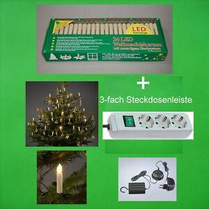 LED Innen Lichterkette  Weihnachten Weihnachts Tannen Baum Kerzen Kerze warmweiß