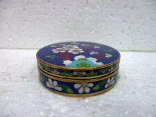 Petite boite en cloisonné à décor de fleurs de collection