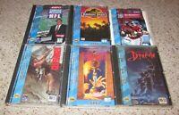 Lot of 6 Sega CD Games Jurassic Park, Dracula, Double Switch, Cliffhanger