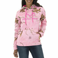 Mossy Oak & Realtree Womens Performance Pullover Hoodie Pink SIZE  L    --CQ5