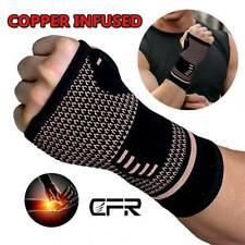 Copper Wrist Thumb Support Hand Palm Brace Carpal Tunnel Strap Arthritis Gloves