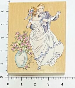 Dancing Couple Rubber Stamp by Stamps Happen Bride Groom Wedding New